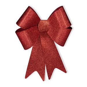 1 x XL Riesenschleife rot, Geschenkschleife Auto, Glitzer Schleife, Dekoschleife