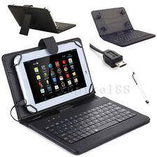 """New For 2015 Amazon Kindle Fire 7"""" 5th Gen Micro USB Keyboard Leather Case Cover"""
