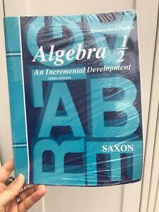 Saxon Algebra 1/2 Homeschool Math Packet & Test Forms - 3rd Ed - NEW