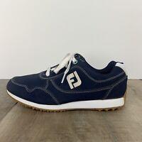 Women's Spikeless Golf Shoes Footjoy FJ Sport Retro Navy Blue SZ 8
