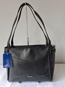 Vershe* Basic Milleni handbag, tote, Shoulder bag, Black, laser cut , NWT