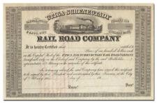 Utica and Schenectady Railroad Company Stock Certificate (1800's)