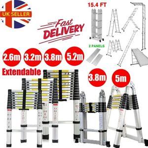 2.6M -6.2M Heavy Duty Multi-Purpose Aluminium Telescopic Ladder Extndable Steps
