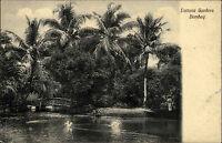 Bombay Mumbai Indien India ~1910 Victoria Gardens Natur Park Garten Post Card