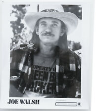 Joe Walsh 1970s black & white 8 x 10 press promotional photo Abc/Dunhill Records
