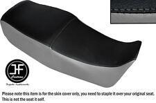 Gris Y Negro Automotriz Vinilo personalizado para SUZUKI GS 450 e Dual Cubierta de asiento solamente
