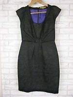 KATHERINE Pencil Dress Sz 10 Black Embossed Material Work , Office, Evening, LBD