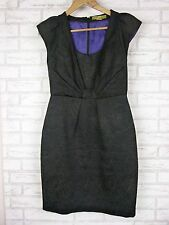 KATHERINE Pencil Dress Sz 10 Black Embossed Material Work , Office, Evening, LBD