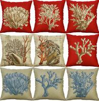 Coral Printing Cotton Linen Pillow Cases Cushion Cover Sofa Case Home Decor