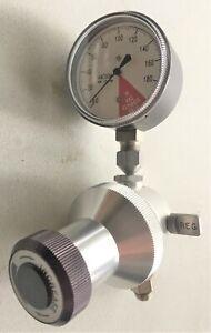 Vacuum Regulator and Gauge, 0 - 180