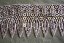 "15 yards Venice/ Venise /Guipure lace Trim  PINK 4"" wide NEW"