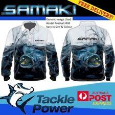 Samaki Long Sleeve Fishing Shirt Murray Cod Adult Large Brand New UPF 50+
