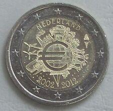 2 euro Países Bajos 2012 10 años euro unz