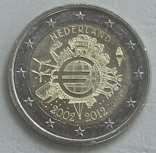 2 Euro Paesi Bassi 2012 10 anni EURO unz