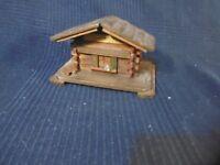 Chalet Wooden Moneybox Souvenir Tourist D Aix the Bath Retro Vintage