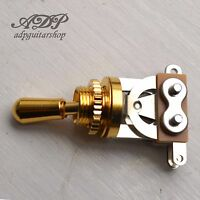 Selecteur Switch 3 ways Toggle style Switchcraft Japon Gold bouton Doré