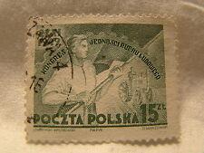 Poland Stamp 1949 Scott 462 A161 Green Farmers Congress 15 Zt
