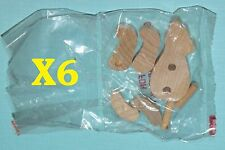 (6) Unfinished Mini Wooden Build A Bear Kits - Craft Project: Paint or Stain It
