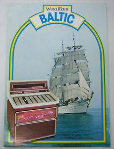 Vintage 1970s Jukebox Advertising Brochure Baltic By Wurlitzer 052412R