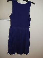 BNWT Witchery Purple dress size14 Sheep Leather Cotton elastane RRP $ 199.95