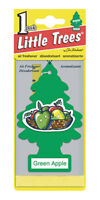 Little Trees Hanging Car and Home Air Freshener, Green Apple Scent