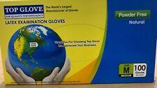 MEDIUM 100 latex examination gloves 100 MEDIUM