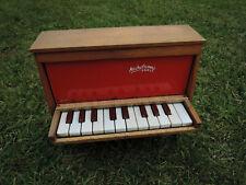 Toy piano Michelsonne Paris - jouet ancien piano rouge de 20 touches