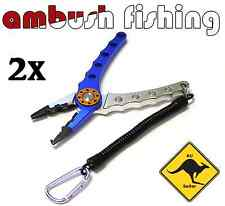 2x Alloy Fishing Pliers - CUTS BRAID & MONO LINE WITH EASE  Aussie stock