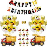 1Set Latex Kids Engineering Car Dot Balloon Boys Theme Birthday Party Decor Effi