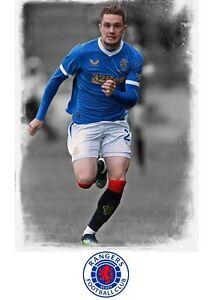 "Glasgow Rangers ""Scott Wright"" Colour A4 Digital UNFRAMED Print"