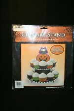 New  Halloween Cupcake Stand Owl Pumpkin Holds 16 Cupcakes - 2 Tier