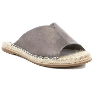 Eileen Fisher Women's 8.5 Milly Metallic Leather Espadrille Sandals SILVER NIB