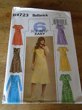 "PATRON ""BUTTERICK 6 VERSIONS ROBES DRAPEES   TAILLE  44 A 50  N°4723 (FF)"