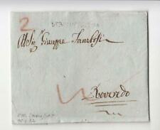1802 P.NAPOL-LETTERA VERONA-ROVEREDO+LINEARE VERONA ITALIANA+2 TASSE ROSSE-O634