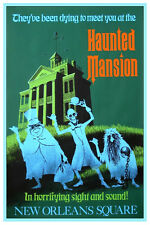 "VINTAGE DISNEY POSTER - HAUNTED MANSION DISNEYLAND GREEN 8.5"" x 11"""
