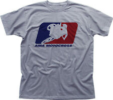 AMA motocross superbikes motorbike heather cotton t-shirt 0438