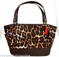 NWT Coach Park Tote Ocelot Brown Carrie Handbag Purse Leopard 23278 Shoulder Bag