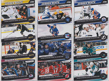 2011-12 Score Sudden Death Inserts 12 Card Lot See Scans NHL Hockey