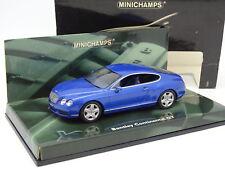 Minichamps 1/43 - Bentley Continental GT Bleue