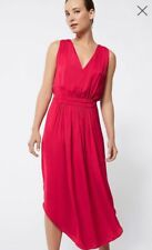 Witchery Red Vneck Midi Dress Sz 14 NWT Rrp$149.95 S18 Xmas Day