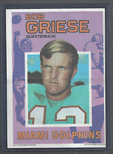1971 Topps Pin Ups Poster #7 Bob Griese Quarterback Miami Dolphins EX-MT Plus