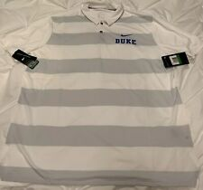 Duke University Blue Devils White Gray Nike Dri-Fit XL ExtraLarge Polo Shirt NWT