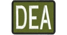 """""""DEA"""" embroidery patch 3x4 hook on back"""