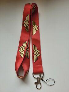 Red Wonder Woman Lanyard