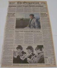 Oregonian Newspaper! November 19, 1984! Front page! Kitzhaber Senate story! LOOK