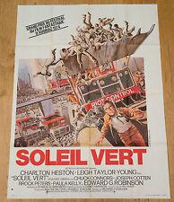 Affiche de cinéma : SOLEIL VERT de RICHARD FLEISCHER