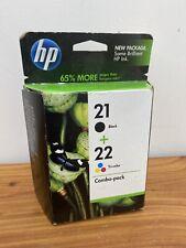 HP Original Ink Cartridge 21 + 22  Black Cyan Magenta Yellow 03/12