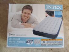 New Intex Essential Wave Twin Airbed, with electric pump