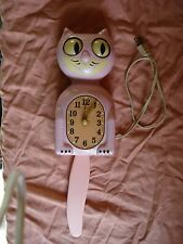 KIT CAT CLOCK RARE, PINK ANTIQUE