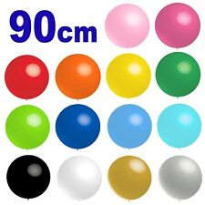 GIANT 90cm Round Latex Balloons Helium Colour Balloon Party Wedding Birthday